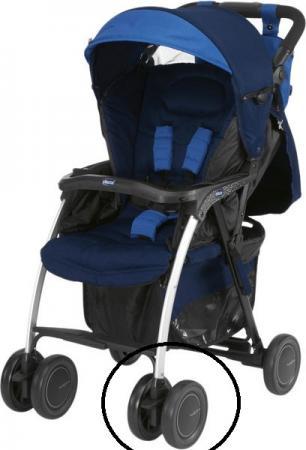Сдвоенное колесо для коляски Chicco Simplicity (черное) chicco сдвоенное для коляски multiway evo