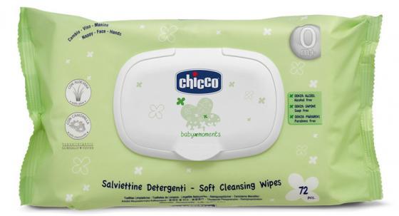 Салфетки Chicco Baby Moments 72 шт детские детские туфли chicco