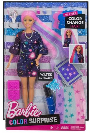 Фото - Игровой набор Barbie (Mattel) Цветной сюрприз mattel игровой набор barbie crayola сделай моду сам платье футболка и юбка