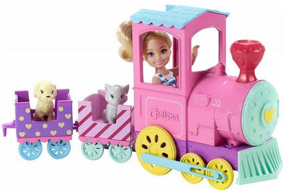 Игровой набор Barbie (Mattel) Паровозик Челси barbie игровой набор космический замок dpb51