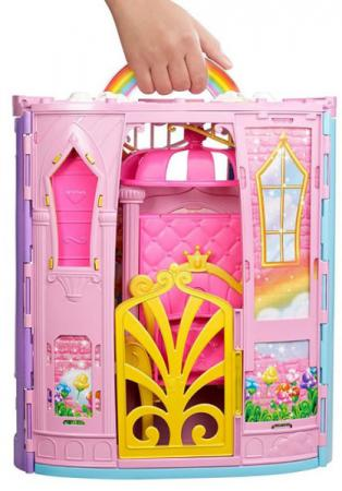 Фото - Игровой набор Barbie (Mattel) Переносной радужный дворец и кукла mattel игровой набор barbie crayola сделай моду сам платье футболка и юбка