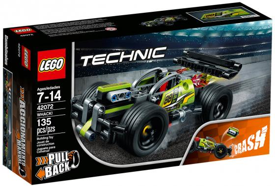 Конструктор LEGO Technic: Зеленый гоночный автомобиль 135 элементов конструктор lego technic гоночный автомобиль 42077