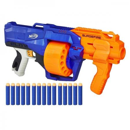 Бластер Hasbro Бластер Элит Сёрджфайр синий оранжевый E0011