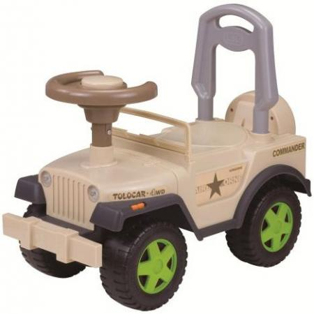 Каталка-машинка Наша Игрушка Шериф пластик от 2 лет на колесах бежевый 611747 каталка на палочке наша игрушка пилот пластик от 1 года на колесах красный 8500 1
