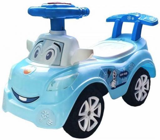 Каталка-машинка Наша Игрушка Дружок пластик от 2 лет на колесах синий 611749 игрушка