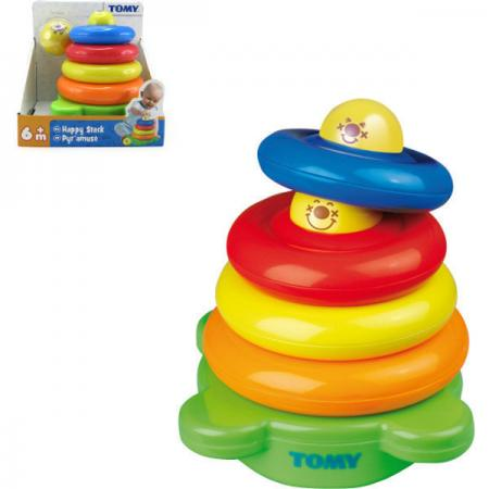 Веселая пирамидка Tomy tomy игрушка для ванной веселая медуза