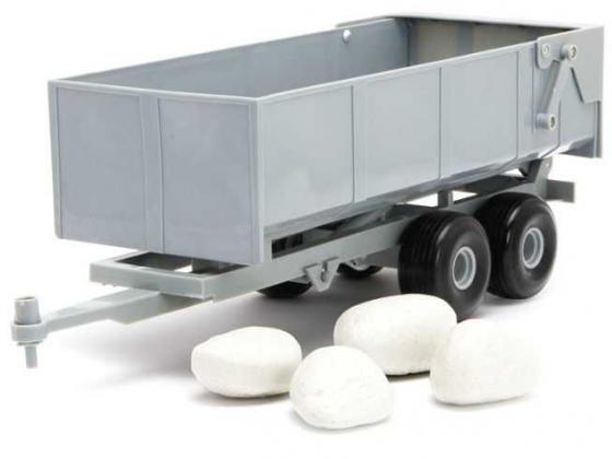 Прицеп Tomy Прицеп-самосвал с камнями серый 43079 tomy тракто farm с большими колесами