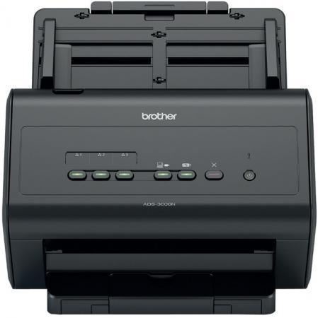 Сканер Brother ADS-3000N настольный, сетевой brother ads 1600w