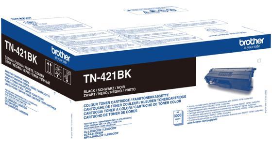 Тонер Brother Тонер-картридж TN-421BK черный (3000 стр.) для DCP-L8410CDW, HL-L8260CDW, HL-L8360CDW, MFC-L8690CDW, MFC-L8900CDW тонер картридж brother tn 321y