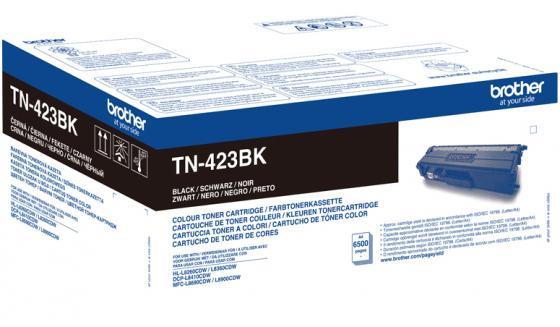 Тонер Brother Тонер-картридж TN-423BK черный (6500 стр.) для HL-L8260CDW, HL-L8360CDW, DCP-L8410CDW, MFC-L8690CDW, MFC-L8900CDW тонер картридж brother tn 321y