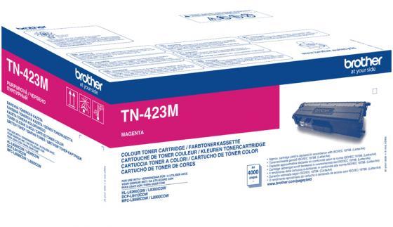 Тонер Brother Тонер-картридж TN-423M пурпурный (4000 стр.) для HL-L8260CDW, HL-L8360CDW, DCP-L8410CDW, MFC-L8690CDW, MFC-L8900CDW тонер картридж brother tn 321y