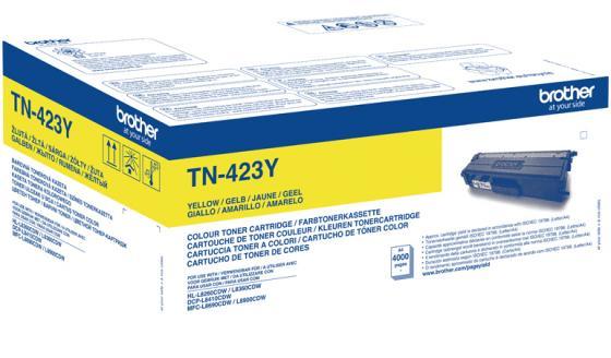 Картридж Brother TN-423Y для Brother HL-L8260CDW HL-L8360CDW DCP-L8410CDW MFC-L8690CDW 4000 Желтый цена