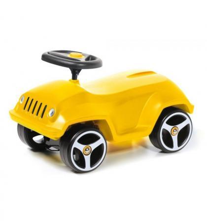 Каталка-машинка Brumee Wildee пластик от 1 года на колесах желтый BWILD-Y200 Yellow каталка на палочке s s toys вертолет желтый от 1 года пластик