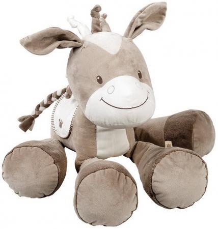 Мягкая игрушка лошадь Nattou Soft Toy Max 75 см серый creative simulation plush soft fox naruto toy polyethylene