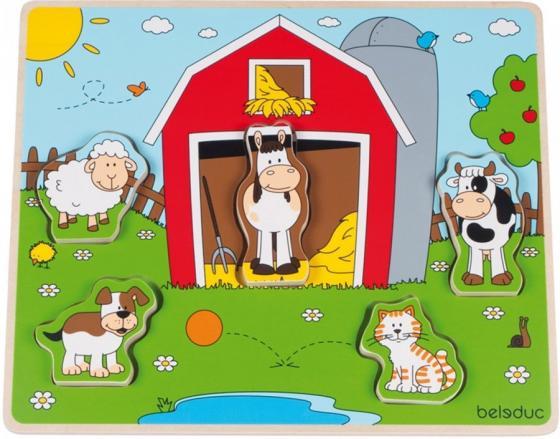 Развивающий Пазл Веселые друзья на ферме развивающий центр playgo для самых маленьких