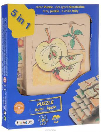 Пазл 30 элементов Beleduc Яблоко 00-0007527 beleduc развивающий пазл яблоко 30 деталей