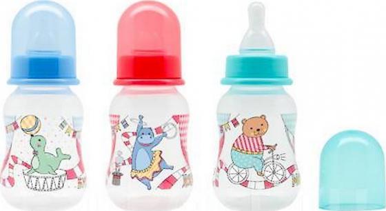 Бутылочка для кормления с молочной соской Just LUBBY,от 0 мес.,125мл.,полипропиле бутылочка для кормления с соской молочной just lubby от 0 мес 125мл полипропилен силикон с руч