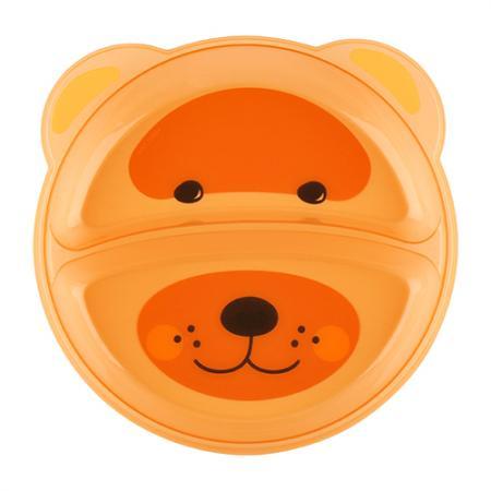 Тарелка Lubby Just LUBBY 1 шт от 6 месяцев оранжевый 20152 lubby
