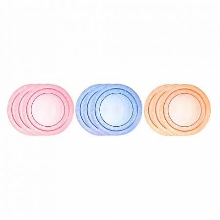 Тарелка Tommee Tippee Набор плоских тарелочек для начала кормления 3 шт от 1 года синий 00-0015516 набор одноразовых нагрудников tommee tippee 20 шт