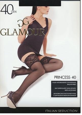 Чулки GLAMOUR Princess AUT 2 40 den лёгкий загар колготки glamour prestige 2 40 den черный