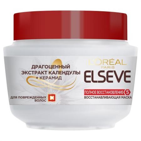 LOREAL ELSEVE Маска для волос Полное восстановление 5 300мл косметика для мамы loreal elseve маска бальзам цвет и блеск мгновенное преображение 200 мл
