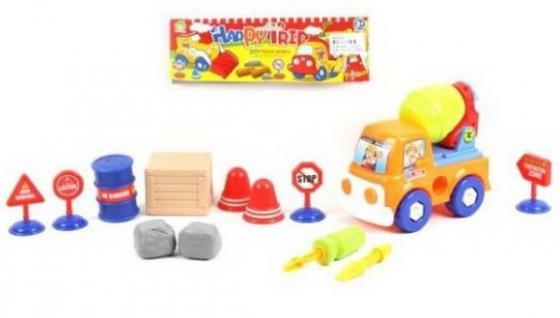 Конструктор-скрутка Наша Игрушка Бетоновоз 12 элементов конструктор скрутка наша игрушка самосвал 12 элементов