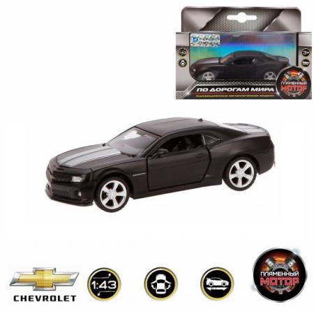 цена на Автомобиль Пламенный мотор Chevrolet Camaro 1:43 черный 870296