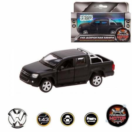 Автомобиль Пламенный мотор Volkswagen Amarok 1:46 черный 870298