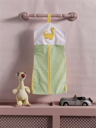 Прикроватная сумка серии Baby Dinos, 100% хлопок, размер 30*65