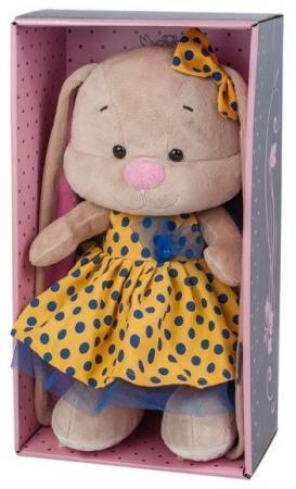 Мягкая игрушка заяц Jack Lin Зайка в Желтом Платье 25 см искусственный мех трикотаж пластмасса игрушка мягкая jack lin зайка jl 003 25