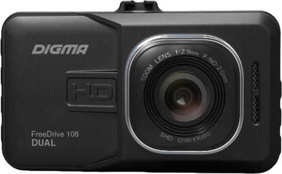 Видеорегистратор Digma FreeDrive 108 DUAL черный 1080x1920 1080p 140гр. GP2248