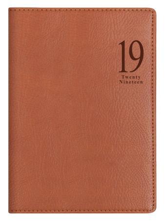 Ежедневник Letts MILANO A5 искусст. кожа белые страницы светло-коричневый
