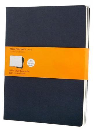 Блокнот Moleskine CAHIER JOURNAL CH221 XLarge 190х250мм обложка картон 120стр. линейка синий индиго (3шт) блокнот moleskine cahier journal pocket 90x140мм обложка картон 64стр линейка синий индиго 3шт 9 шт кор