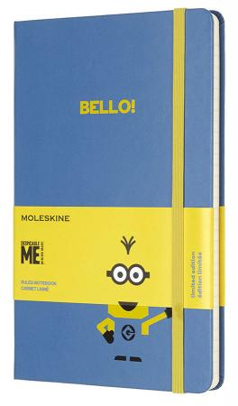 Блокнот Moleskine Limited Edition MINIONS LEMI01QP060B29 Large 130х210мм 240стр. линейка голубой блокнот moleskine limited edition transformers large 130х210мм 240стр линейка optimus prime