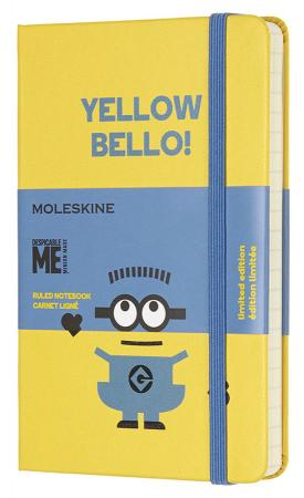 Блокнот Moleskine Limited Edition MINIONS LEMI01MM710M10 Pocket 90x140мм 192стр. линейка желтый блокнот moleskine limited edition super mario pocket 90x140мм 192стр линейка цвет зеленый