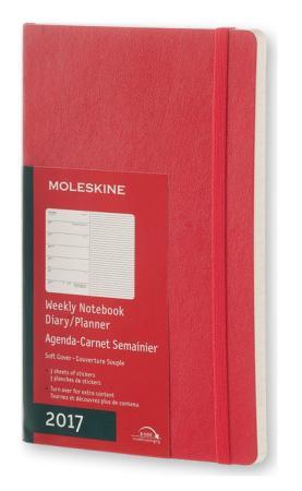 Еженедельник Moleskine CLASSIC SOFT WKNT Large 130х210мм 144стр. мягкая обложка красный еженедельник moleskine classic soft wknt large 130х210мм 144стр мягкая обложка красный