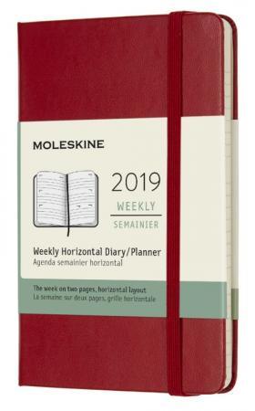 Еженедельник Moleskine CLASSIC WKLY Pocket 90x140мм 144стр. красный еженедельник moleskine classic wknt xl 190х250мм 144стр черный