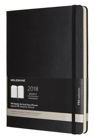 цены Еженедельник Moleskine PRO VERTICAL XL 190х250мм 264стр. черный