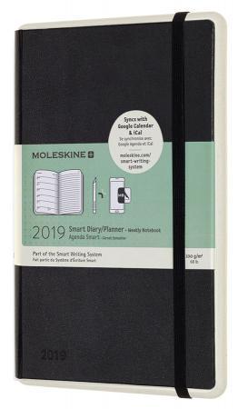 Еженедельник Moleskine Paper Tablet Smart Large 130х210мм 144стр. черный еженедельник moleskine classic wknt xl 190х250мм 144стр черный