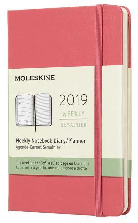 Еженедельник Moleskine CLASSIC WKNT Pocket 90x140мм 144стр. розовый еженедельник moleskine classic wknt xl 190х250мм 144стр черный