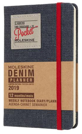 Еженедельник Moleskine Limited Edition DENIM WKNT Pocket 90x140мм 144стр. черный еженедельник moleskine classic wknt xl 190х250мм 144стр черный
