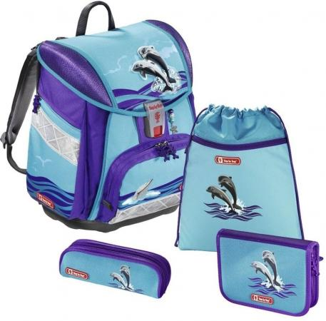 Фото - Ранец с наполнением Step by Step Touch2 Happy Dolphins 21 л фиолетовый голубой ранец светоотражающие материалы step by step touch2 space pirate 21 л синий голубой
