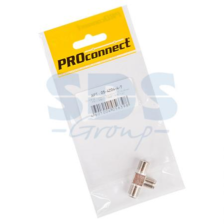 ПЕРЕХОД соединитель x3 гн F (F-тройник) PROCONNECT Индивидуальная упаковка 1 шт цена