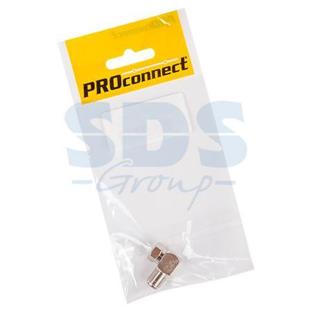 ПЕРЕХОД шт F - гн F угловой PROCONNECT Индивидуальная упаковка 1 шт переход гн f шт tv угловой proconnect индивидуальная упаковка 1 шт