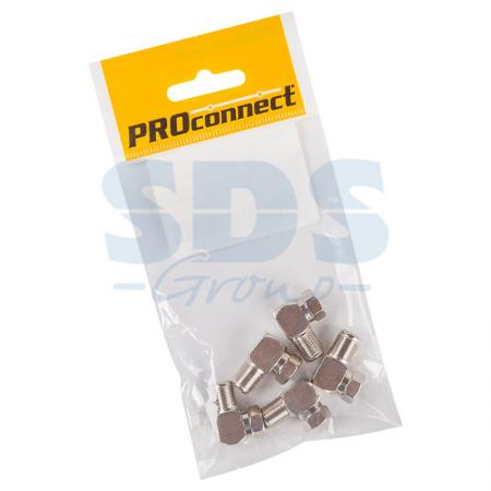 ПЕРЕХОД шт F - гн F угловой PROCONNECT Индивидуальная упаковка 5 шт 2 1x5 5mm f to 5 0x7 4mm male dc power plug connector adapter for dell hp laptop r179 drop shipping