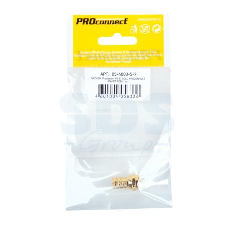 РАЗЪЕМ F-разъем RG-6 GOLD PROCONNECT Индивидуальная упаковка 1 шт шпилька rg m 16x190 gvz fischer 10 шт