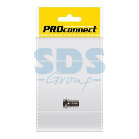 РАЗЪЕМ F-разъем RG-6 обжим PROCONNECT Индивидуальная упаковка 1 шт шпилька rg m 16x190 gvz fischer 10 шт