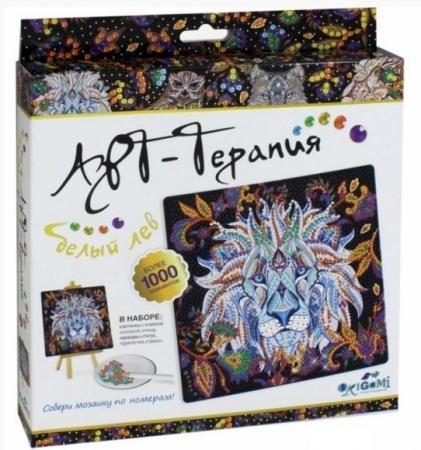 Мозаика Алмазные узоры Белый лев Арт-терапия набор для творчества оригами арт терапия мозаика алмазные узоры лотос 02459