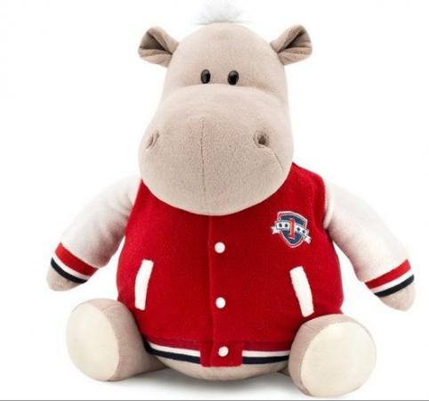 Мягкая игрушка бегемот ORANGE Бегемот в клубной куртке 30 см искусственный мех наполнитель текстиль пластмасса стоимость