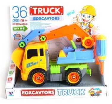 Конструктор-скрутка Наша Игрушка Автокран 100710112 конструктор скрутка наша игрушка трактор 100955860